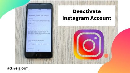How to deactivate Instagram on iPhone