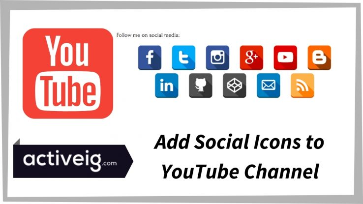 How to Add Social Media Icons to YouTube Channel?