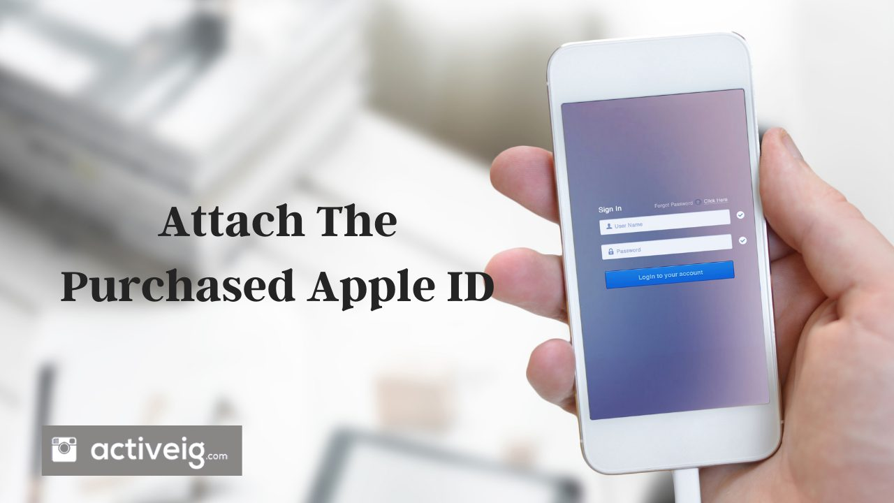 Attached Friend's Apple ID