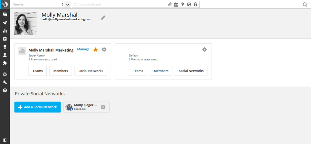 Click on Add Social Network to Add the Instagram Account in Hootsuite