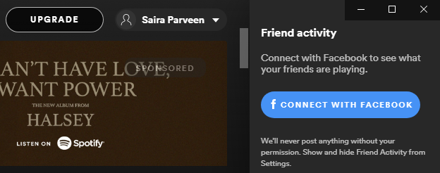 Connect Your Spotify With Facebook