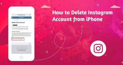 how to delete insta acc on iphone