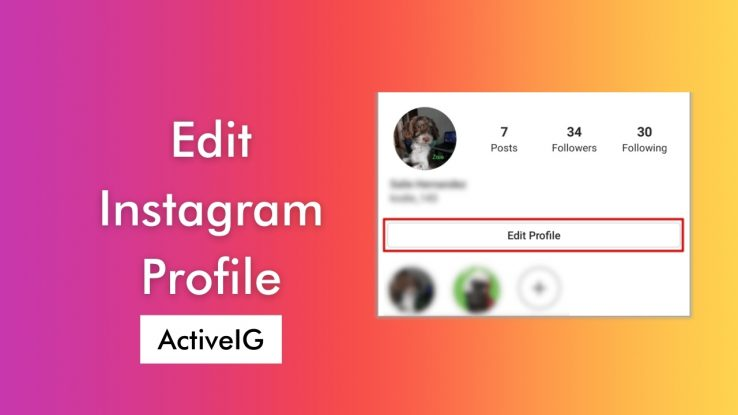 How to Edit Your Instagram Profile