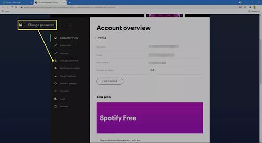 How to change Spotify password Step 4