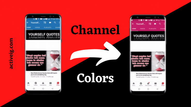 How to change the Youtube channel color?
