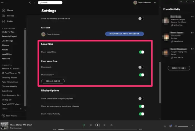 Add Local Files to Spotify