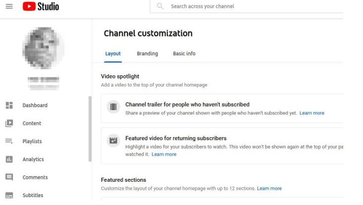 Adding Icons and Links on YouTube Channel