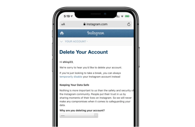 Steps to Delete Instagram Account Permanently