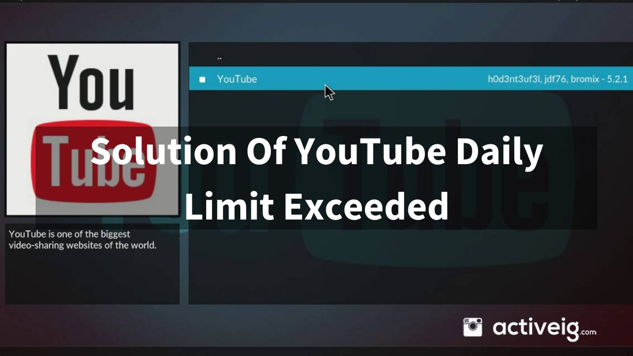 Solution of YouTube Daily LImit Exceed?