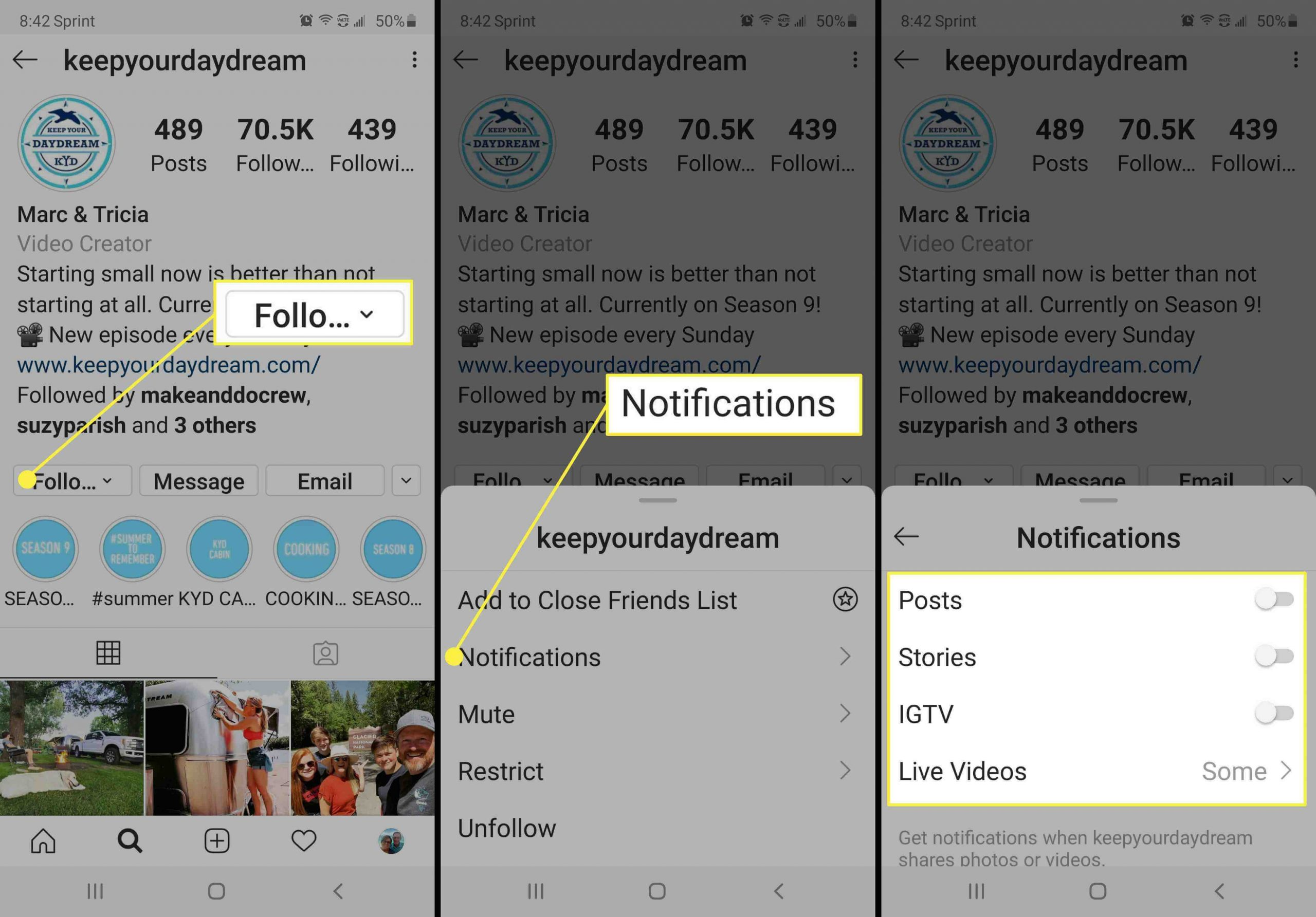 Steps To Turn On Post Notifications On Instagram