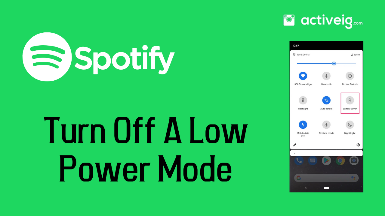 Turn Off A Low Power Mode