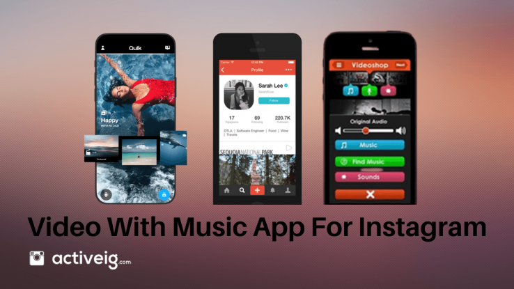 Video with music app for Instagram