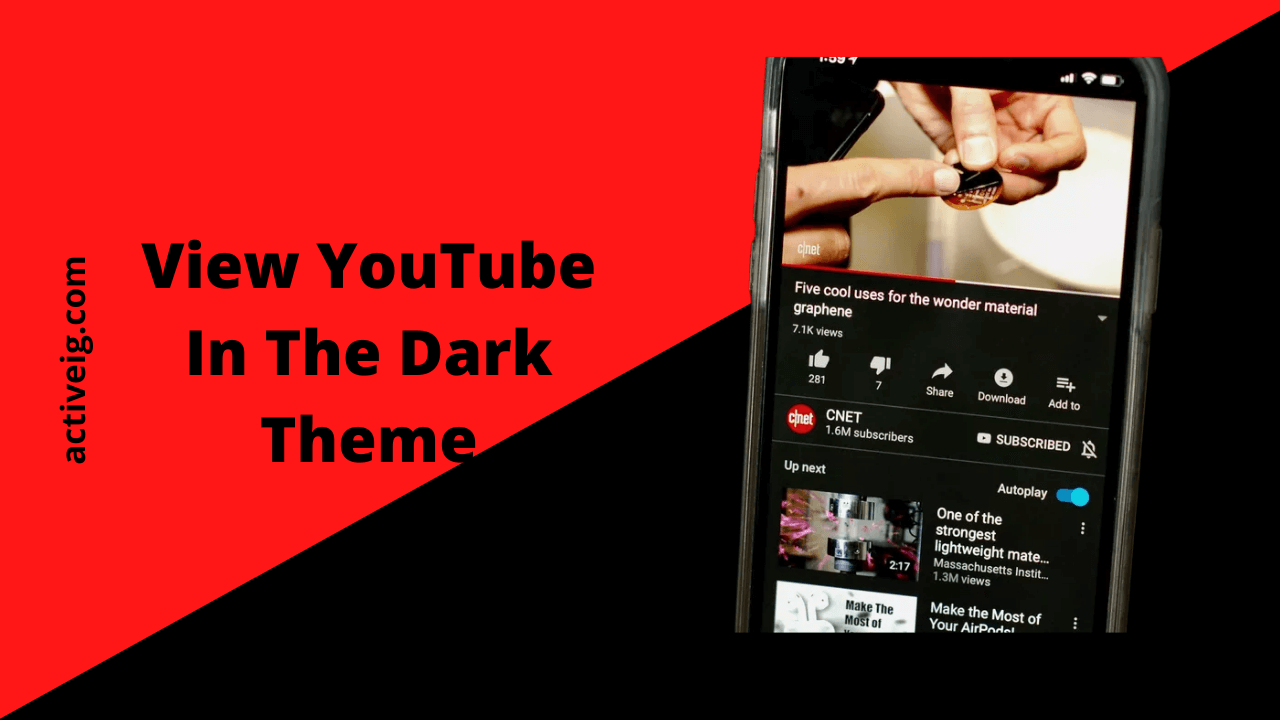 View YouTube In The Dark Theme