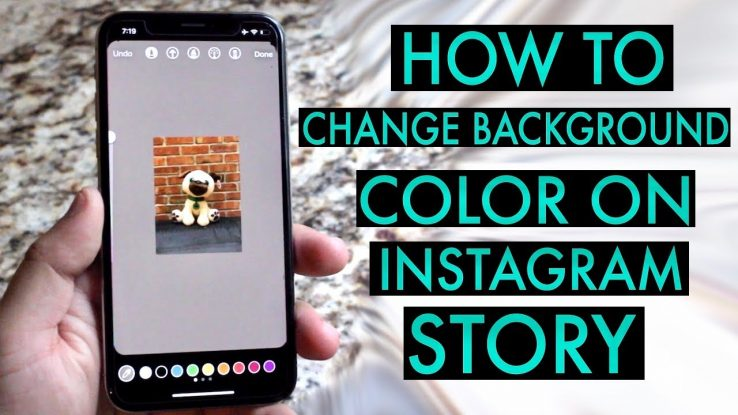 How to change background color on Insta Story