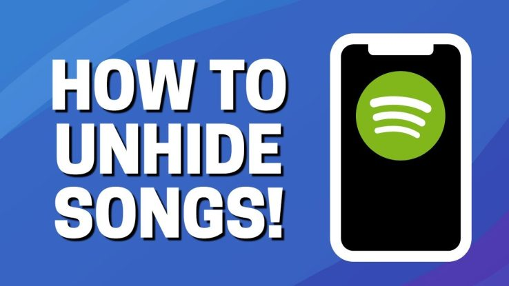 How to unhide spotify songs?