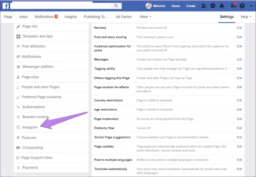 How to link Facebook and Instagram accounts